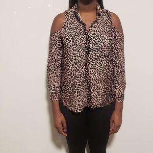 Top Shop leopard blouse